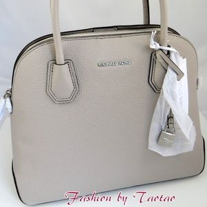 Michael Kors Studio Mercer Lg Dome Satchel Cement